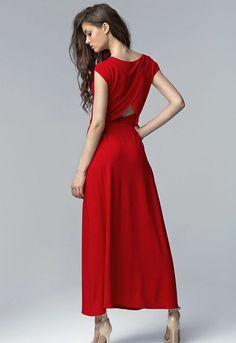2cd0abcadd7 Détails sur Robe longue sexy de soirée femme rouge fendue NIFE S61 34 36 38  40 42