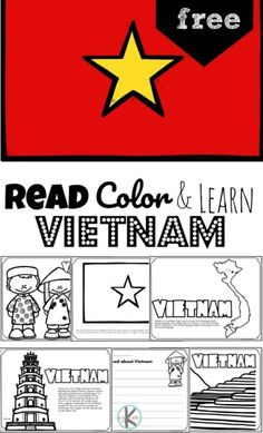 Learn about the Asian country known for an extensive cave system, beaches, noodle soup, motor bikes, the largest exporter of cashews, and more as children discover Vietnam. These FREE Printable Vietnam Coloring Pages for preschool, pre k, kindergarten, first grade, 2nd grade, 3rd grade, 4th grade, and 5th grade kids explore the country, culture, and icons of Vietnam for kids.
