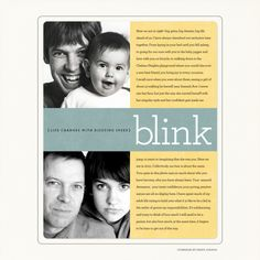 "Blink 2010--""I just want to feel something when I look back on this document of life."" Perfect."