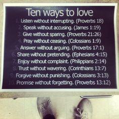 Ten ways to love.
