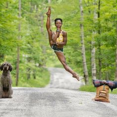 This is Michaela DePrince. She is a Sierra Leonean-American ballet dancer. With her adoptive mother, Elaine DePrince, Michaela authored the book Taking Flight: From War Orphan to Star Ballerina. Gorgeous. Simply stated.