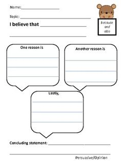 A pre-writing organizer for Persuasive and/or Opinion Writing. If you like this product, please check out my WRITER'S PEN packet! Opinion Writing, Persuasive Writing, Pre Writing, Teaching Writing, English Writing, Start Writing, Essay Writing, Teaching Ideas, Writing Resources