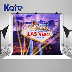 Welcome To Fabulous Las Vegas Photography Backdrops Night