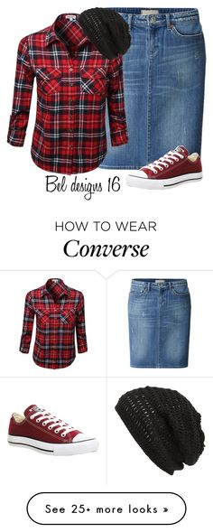"""Plaid Shirt and Converse. ~Grace"" by isongirls on Polyvore featuring Uniqlo, Converse, King & Fifth Supply Co. and beldesigns16"