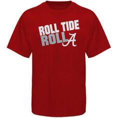 7ac7f65839f Alabama Crimson Tide Roll Tide Roll Slogan T-Shirt - Crimson College  Football
