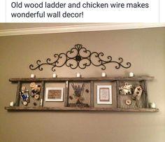 Old wooden ladder decor