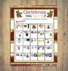 Christmas Song Trivia Christmas Day Games Christmas Carol | Etsy