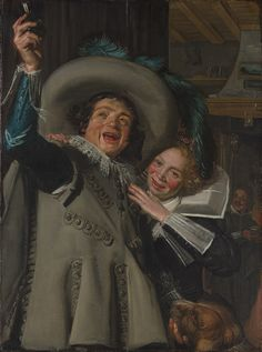 "Frans Hals (Dutch, 1582/83–1666). Young Man and Woman in an Inn (""Yonker Ramp and His Sweetheart""), 1623. The Metropolitan Museum of Art, New York. Bequest of Benjamin Altman, 1913 (14.40.602) #dogs"
