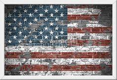 Gerahmtes Wandbild USA Flagge