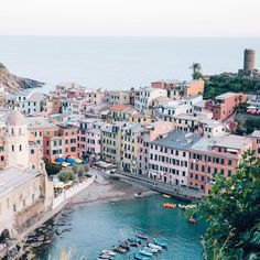 """hemingwayandhepburn: """"So much charm and personality in each of these little towns in Cinque Terre ⛵️ (at Vernazza) """""""