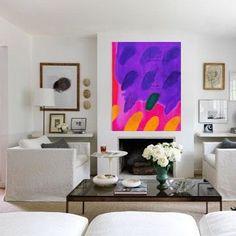PURPLE FINGER PRINTS - Acrylic on Canvas