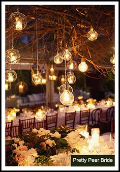 {Things I Love Thursday} Nighttime Garden Weddings | The Pretty Pear Bride