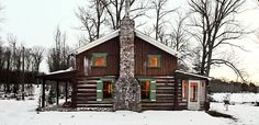 A Cozy Christmas Cabin Nestled in the Woods of Wisconsin  - CountryLiving.com