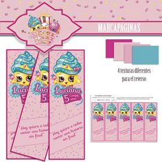 "Exras kit decorativo shopkins ""Personaje Reina Cupcakes"" *Encargo cumpleaños Luciana"
