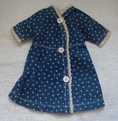 Darling blue calico stars doll dress