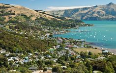 akaroa Places Ive Been, Places To Go, Homeland, New Zealand, Buildings, Destinations, Romantic, River, Spaces