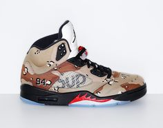 "The Supreme x Air Jordan 5 ""Desert Camo"" Will Be Available from NikeLab"