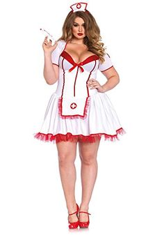 Dlz stores women uniform sexy lingerie with cap-nurse