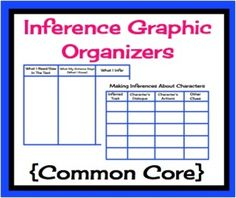 FREE Inference Graphic Organizers {Common Core}