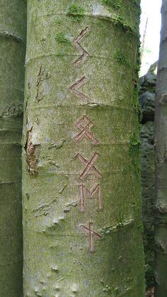 Runes at Druidhein, Germany