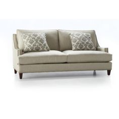 From Searsca Grey Couch With Nailhead Trim