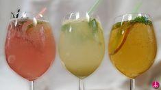 3x selbstgemachte Limonade - Rhabarber-Rosmarin, Ingwer-Limette, Apfel-Kräuter