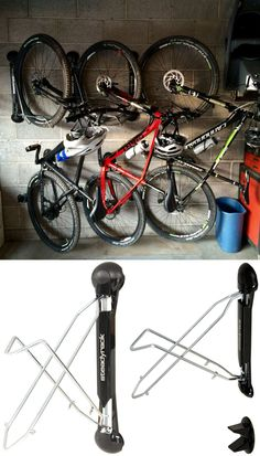 Space saving bike storage unit is great for hanging bikes in the shed, garage, inside or  in tight spaces. This bike rack keeps bikes organized, up and out of the way. The steadyrack vertical bike storage rack would be a great gift idea for the dad(hint hint: Father's Day!) or mom that loves cycling and wants to keep their bike safe!