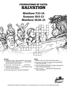The Birth of Jesus Sunday School Crossword Puzzles: This ...