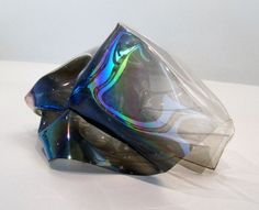 #art #sculpture #plastic #iridescent #black