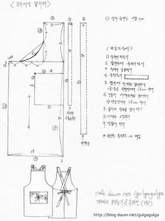 「린넨 원피스 앞치마 패턴」の画像検索結果
