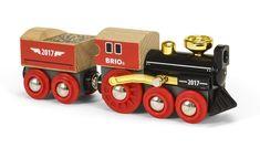 Special Edition 2017 Train Play Set Steam Engine Wheels Children Wooden Kids Toy