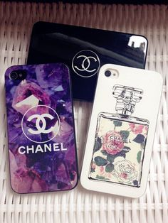 Chanel phone case Omg i want these so bad