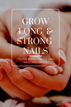 Tips for Growing Your Long Nails and Strong Read on for the reasons your nails aren't growing the way they should be, and tips for growing your nails long and strong. Nail Growth Polish, Nail Growth Tips, Nail Polish, Fingernail Fungus, Hard Nails, American Nails, Soft Nails, How To Grow Nails, Beauty