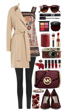 """Go-To Camel Coat"" by itsybitsy62 ❤ liked on Polyvore featuring Topshop, Warehouse, Michael Kors, Miu Miu, Pier 1 Imports, MAC Cosmetics, Yves Saint Laurent, Christian Dior, Leica and The New Black"
