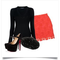 """""""Red Lace"""" by jessica-house on Polyvore"""
