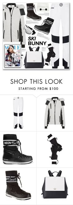 """""""SKI BUNNY"""" by nanawidia ❤ liked on Polyvore featuring Christian Lacroix, Topshop, Disney, Chanel, Moon Boot, The North Face, Kate Spade and Skullcandy"""