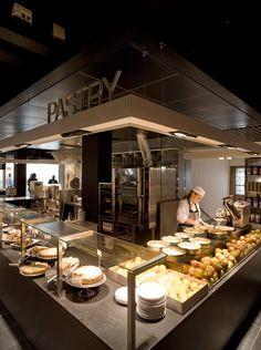 de Bijenkorf Kitchen: Amsterdam | soffit | sneeze guards | geometry |