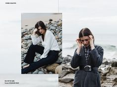 Stories Collective / The Sea Around Us / Photography Janneke Storm / Direction & Styling Adeline Conti / Make up & Hair Penny Antuar / Model Alicia Davis at Tamblyn Models / Design Mary Bartol #fashion #editorial #beach #layout #design
