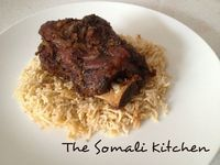 Goat is a popular meat amongst the nomadic Somali people who praise its soft, juicy taste. Roast goat is the preferred method of cooking. In this recipe I have used a spice blend to marinate the meat. The result is soft, succulent, fall off the bone meat that is packed with flavour.