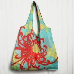 koi chrysanthemum reusable bag
