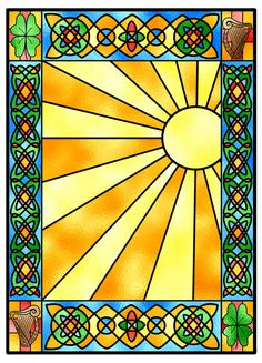 Stained glass design by Sailorangel