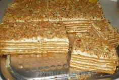 ciasto marlenka No Bake Cake, Deserts, Good Food, Dessert Recipes, Food And Drink, Cooking Recipes, Sweets, Bread, Dishes