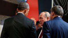 Vladímir Putin y Barack Obama conversan en la cumbre del APEC en Lima (Perú), el 20 de noviembre de 2016