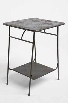 Factory Side Table Replace desk with this table, between the beds