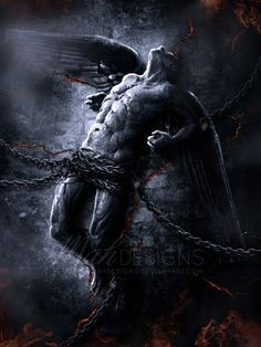 #fallenangel #thewatchers #captive (Fallen Angel III by melanneart.deviantart.com on @deviantART)