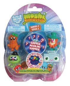 Moshi Monsters Toy Each come with 5 highly detailed and adorable Mosh lings, one is hidden for an extra surprise Moshi Monsters Toys, Pet Monsters, Online Fun, Toy Packaging, Game Codes, Monster Characters, Christmas Toys, Christmas 2017, Kids Branding