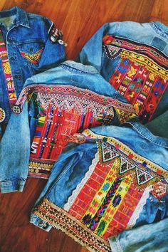 Embellished Denim Jacket x 3