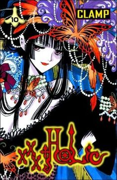xxxHolic vol 10 by CLAMP. The well water and the woman watching, Watanuki has a bad fall, Himawari's bad-luck effect, and Kohane and Haruka appear. Finished June bedtime reading, fourth read. Bedtime Reading, Xxxholic, Book Review Blogs, Ghost Stories, Manga Games, Book Collection, Clamp, The Book, Science Fiction