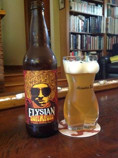 Elysian Brewing Company Inc., Seattle Washington. Superfuzz - blood orange pale, delicious!