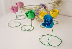 Diy flores con hueveras de cartón1